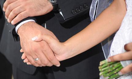 Συμβολισμός ένωσης χεριών στην ακολουθία του γάμου