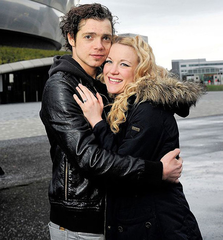 Lilly-Jane Young and Sandor Sturbl outside the Hydro in Glasgow